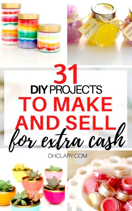 Hot Craft Ideas to Sell - 30+ Crafts To Make And Sell From Home -   18 diy projects to sell cheap ideas