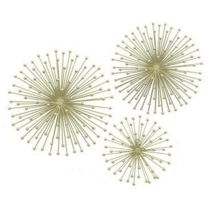 Three Hands Metal Wall Decoration In Gold Set Of 3 17567 The Home Depot Starburst Wall Art Three Piece Wall Art Metal Wall Decor