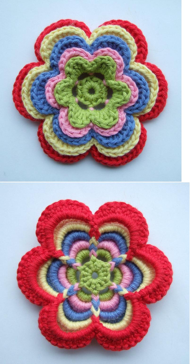 Beautiful crochet flower full tutorial at httpsolgrim beautiful crochet flower full tutorial at httpsolgrimspot201106hekleblomstml izmirmasajfo