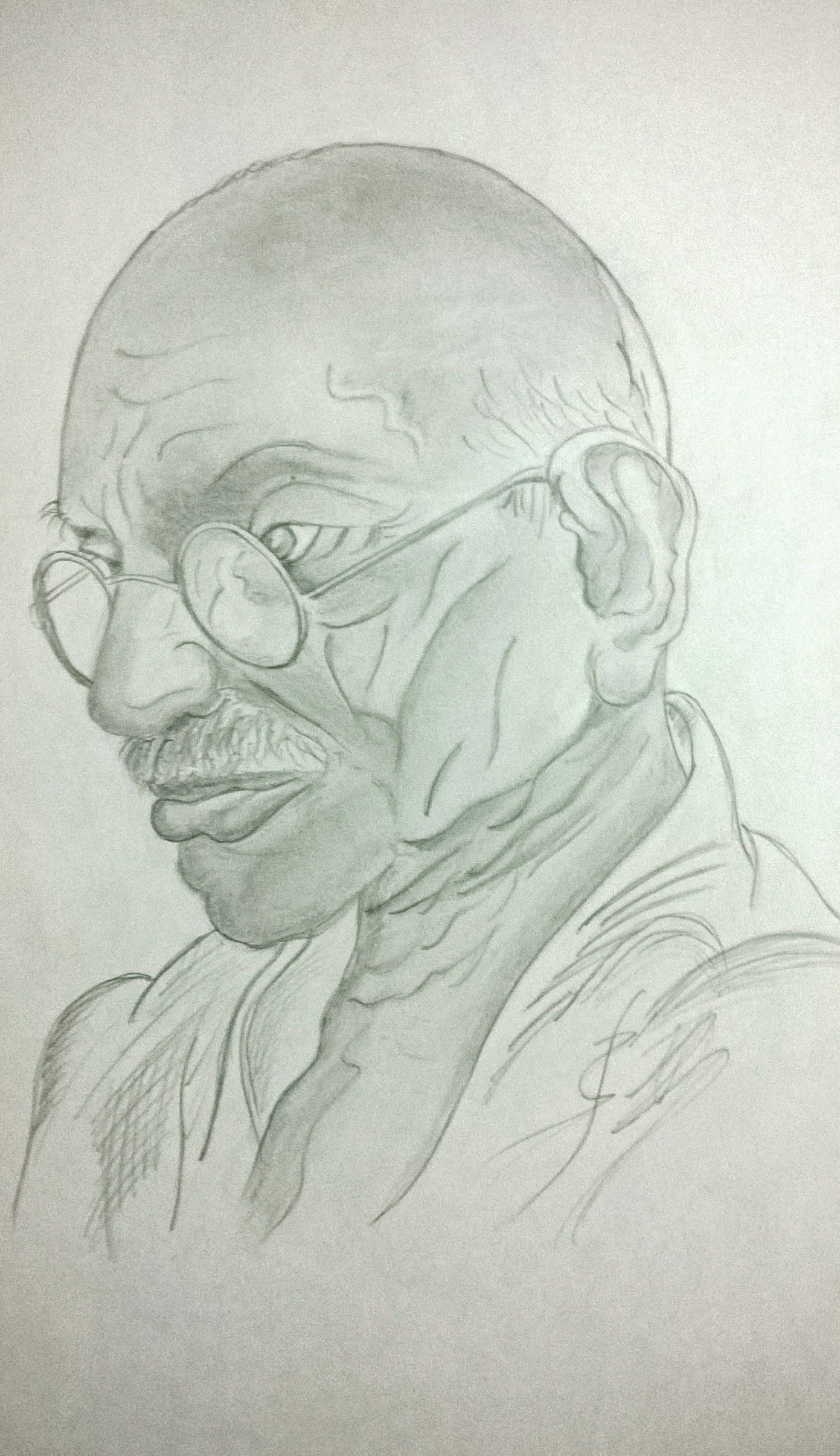 Mahatma gandhi mahatma gandhi pencil art sketches drawings sketch pencil drawings