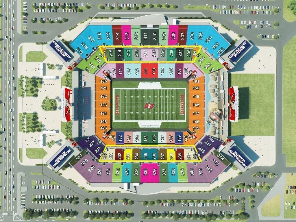 Tampa Bay Buccaneers Seating Chart Di 2020