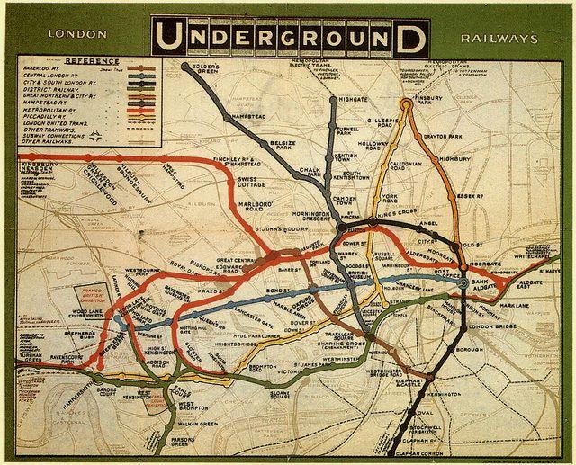 London Underground Map 1908 London Underground Map London Tube Map Underground Map