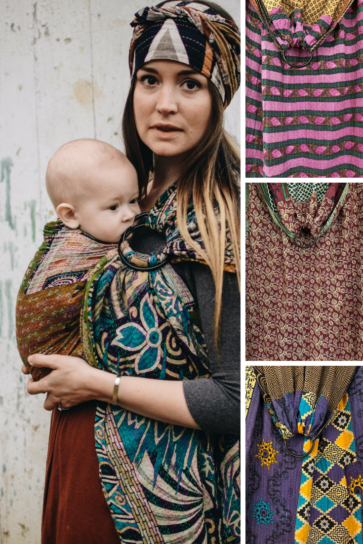fc455344c8a Baby Wearing Sling - Handmade Ring Slings from Kantha Bae - Each baby  carrier is one-of-a-kind