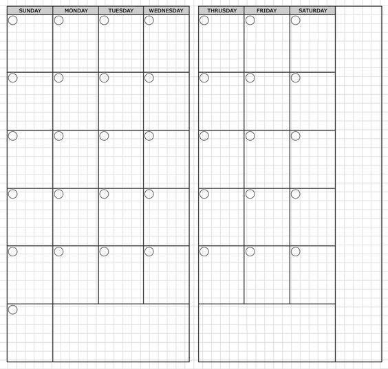 Traveler\'s Notebook Standard Monthly Printable | travelers notebook ...