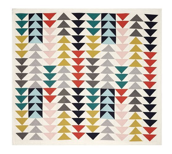 Mitsy Triangle Patchwork Quilt Amp Shams Pottery Barn