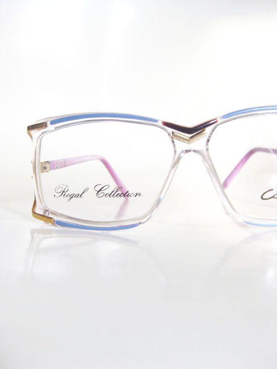 0e566e07b9 Colorful Avant-Garde Eyeglasses Square Oversized 1980s Retro Granny ...
