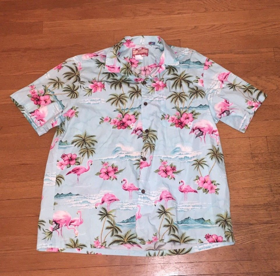 81a34371 RJC Hawaiian Aloha Shirt Mens XL PINK FLAMINGOS Cotton Made in Hawaii Camp    eBay #rjc #hawaiianshirt #forsale # ebay