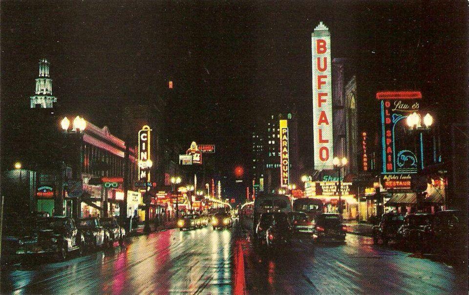 Main St Buffalo Ny 1950s The 716 Pinterest Buffalo