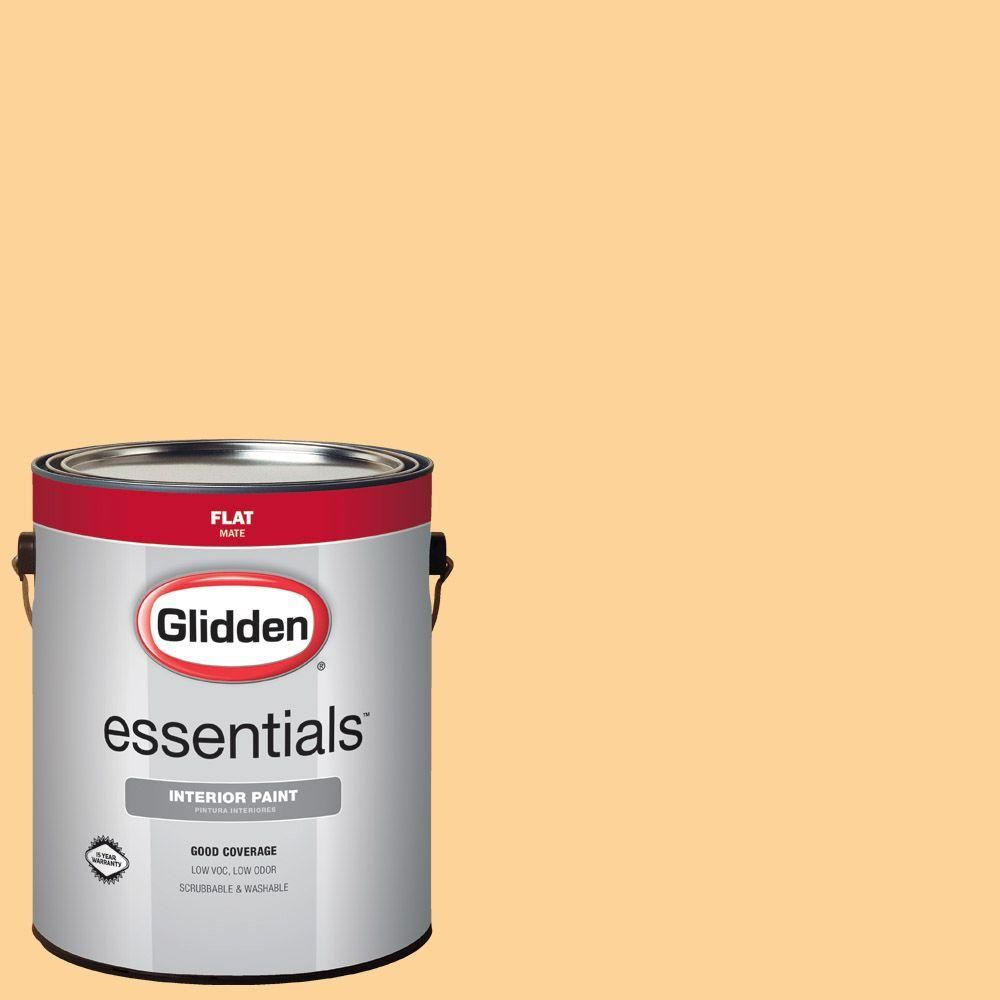 Glidden Essentials 1 gal. #HDGO58 Ginger Peachy Flat Interior Paint