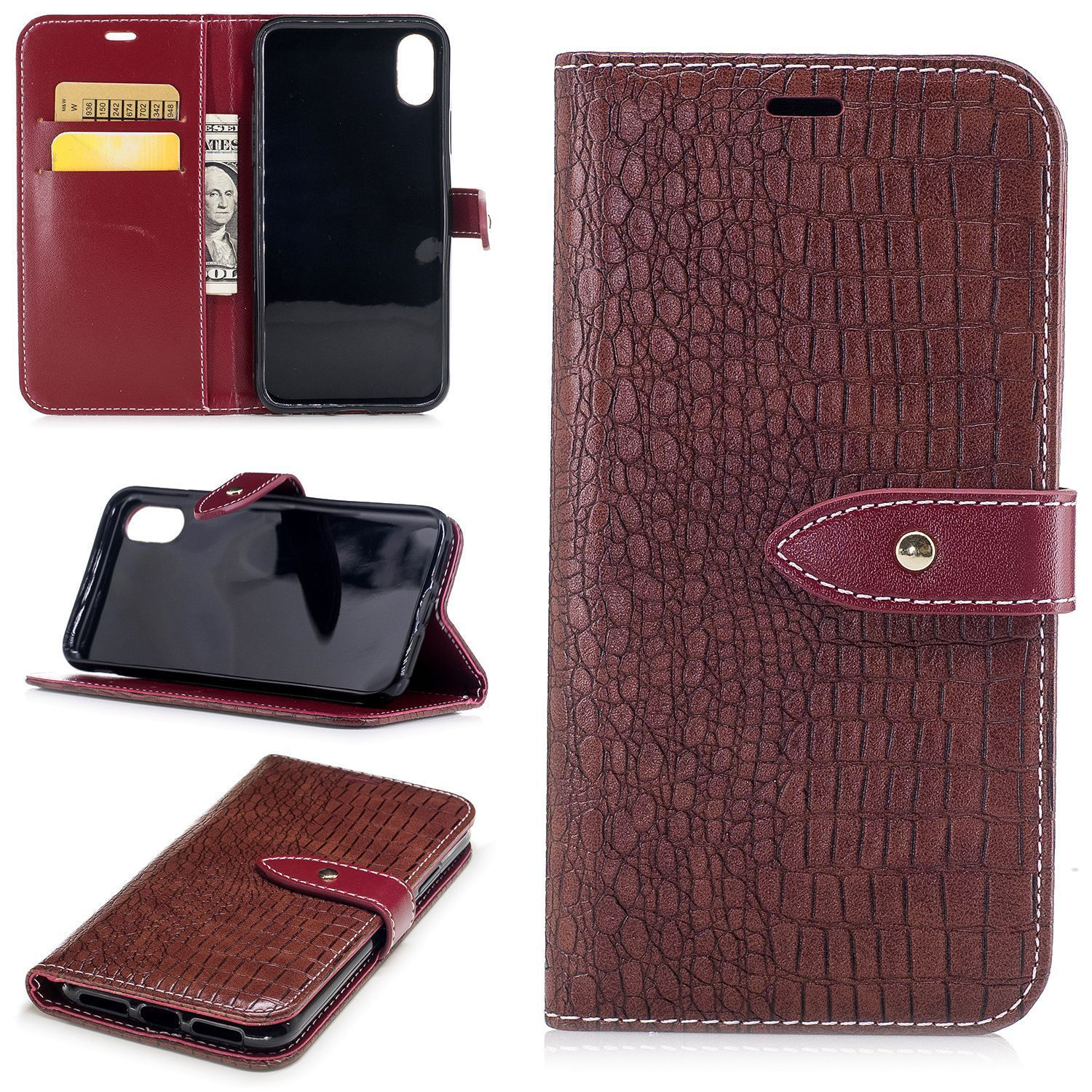 649f262763ee Flip Crocodile Pattern Pu Wallet Leather Skin Case Cover For Iphone6 ...