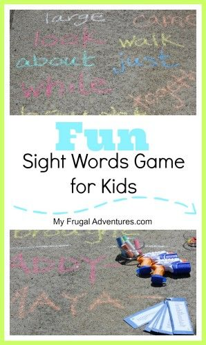 If you have little ones struggling to memorize sight words- here is an easy game to make learning fun!