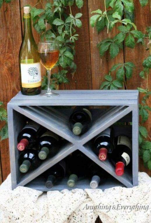 mini bar  casier à bouteilles diy Étagères à bouteilles