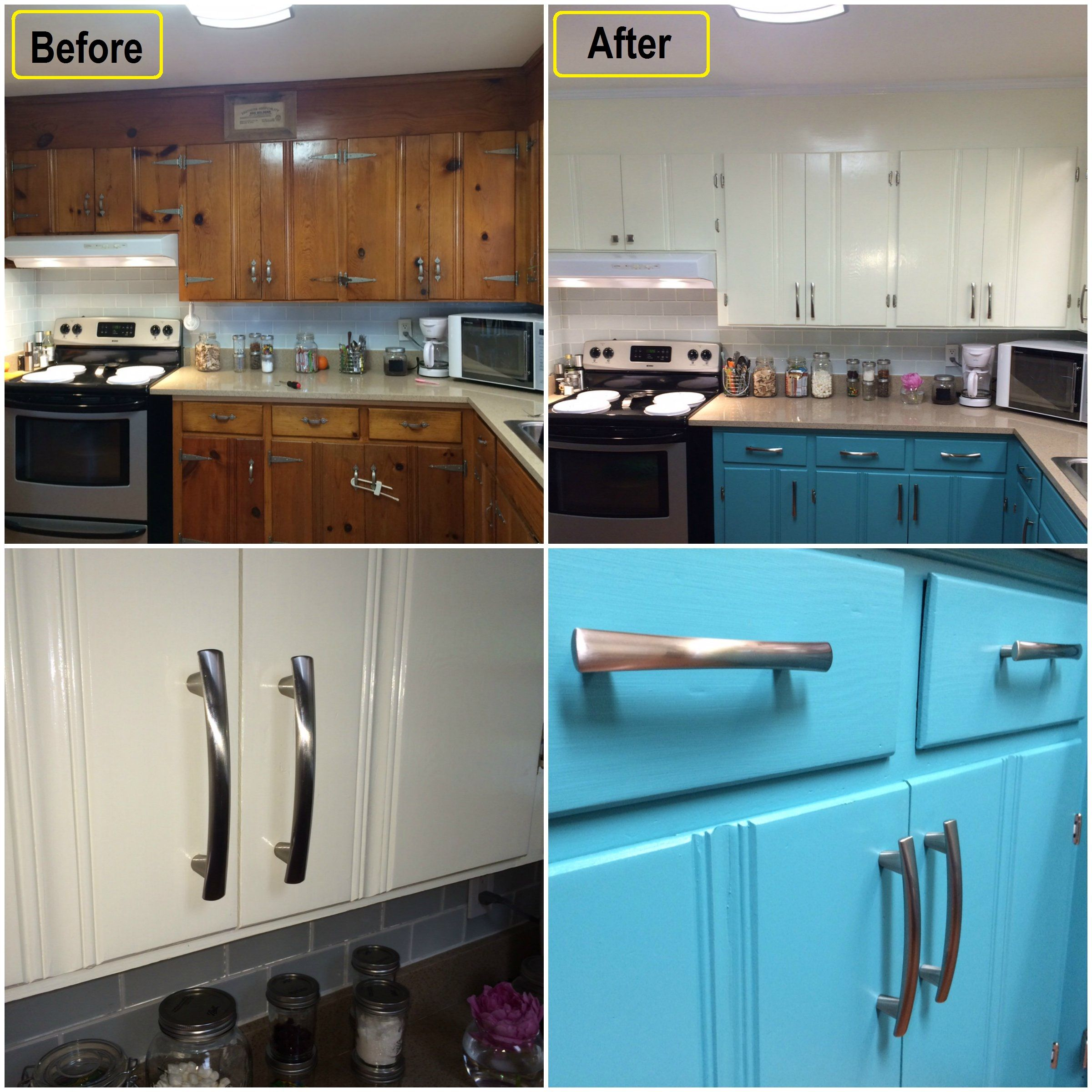 Knotty Pine Cabinets: Knotty Pine Kitchen Makeover To Modern Chic Kitchen.