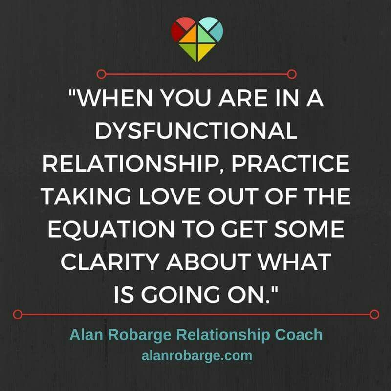 When you are in a dysfunctional relationship, practice ...