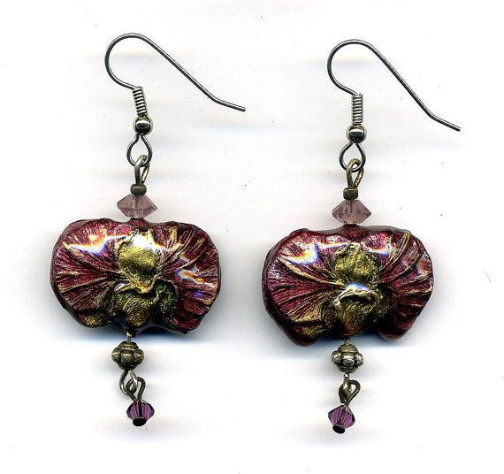 Earrings of polymer clay by Montse on Etsy