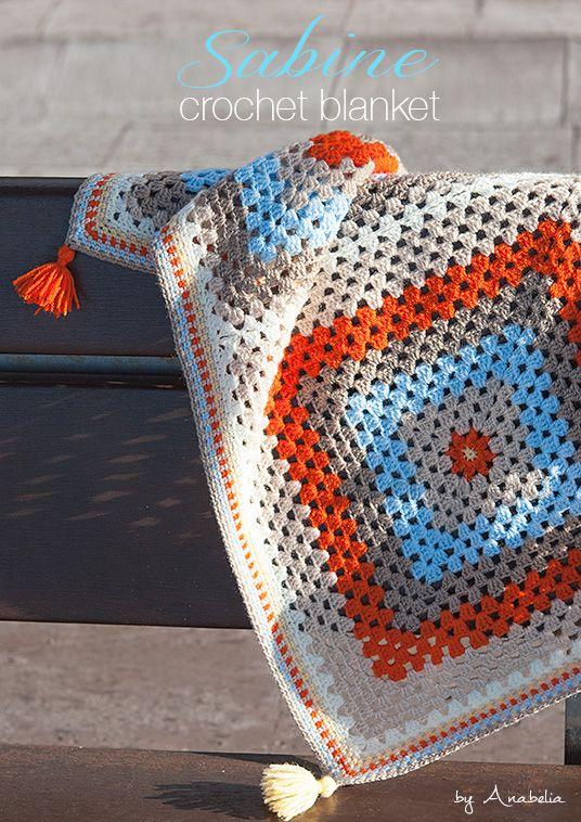 Anabelia diseño artesanal: Sabine manta de bebé, patrón de ganchillo ...