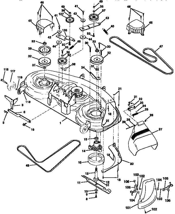 Craftsman Dlt 3000 Mower Deck Parts In 2020