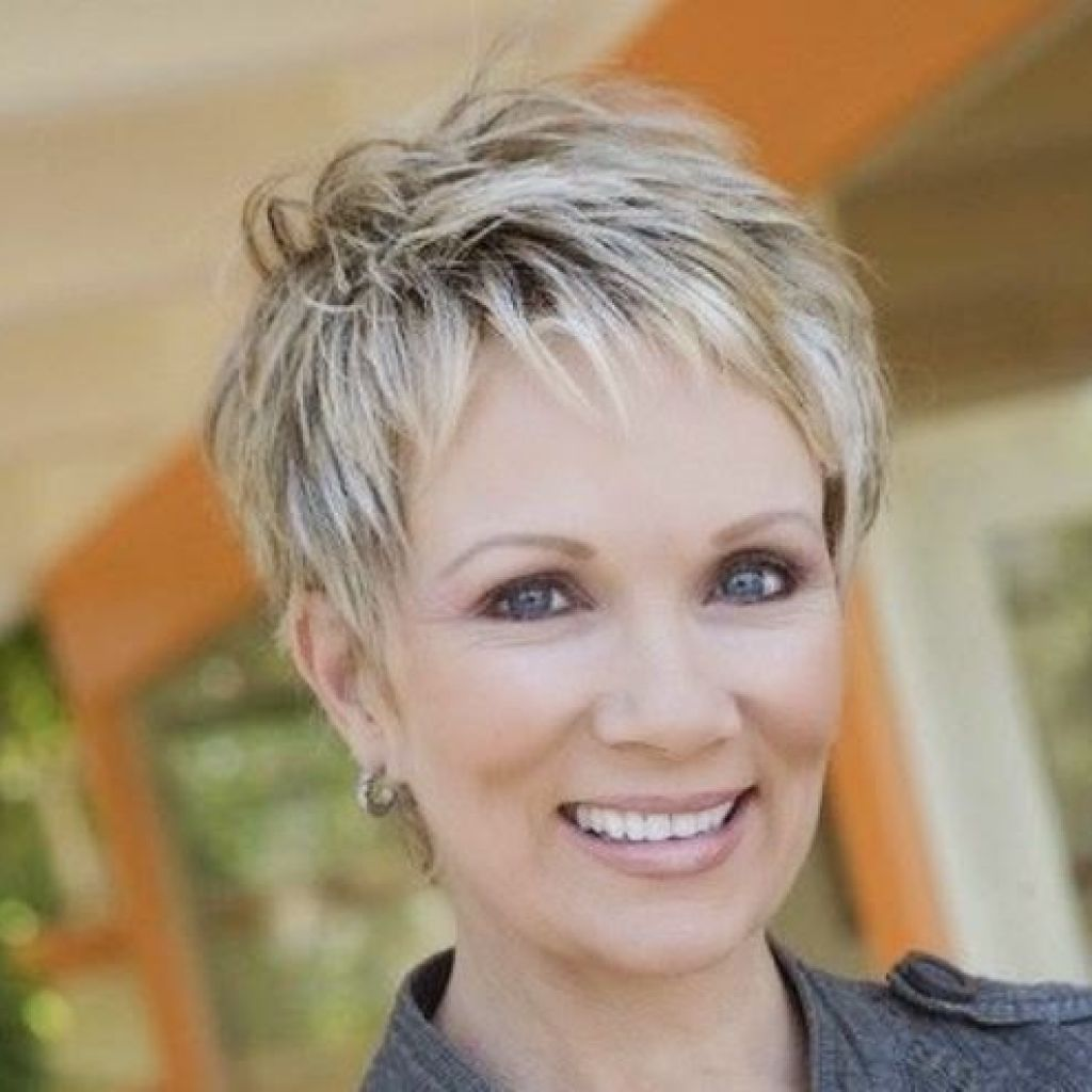 Image result for cute short haircuts for 60 year old woman with thin hair