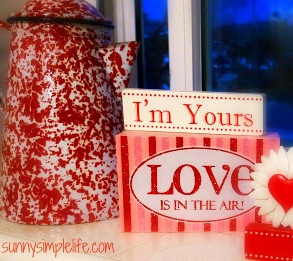 simple Valentine decorating ideas