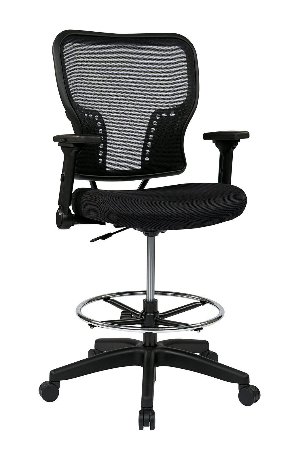 Deluxe air grid back and padded mesh seat chair with 4