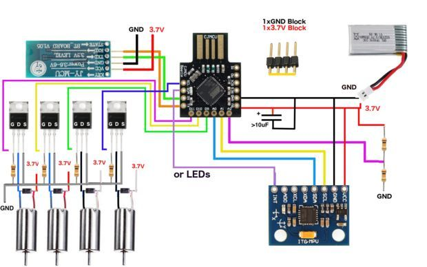 Picture of circuit diagram micro quad pinterest circuit ongoing project currently need to solder the circuitthis is arduino based printed micro quadcopter project for mm diameter dc motors asfbconference2016 Choice Image
