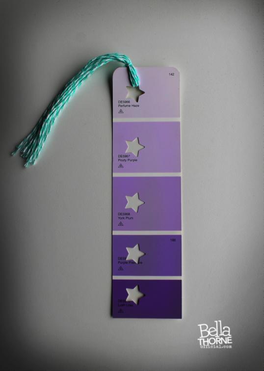 DIY Paint Chip Bookmarks