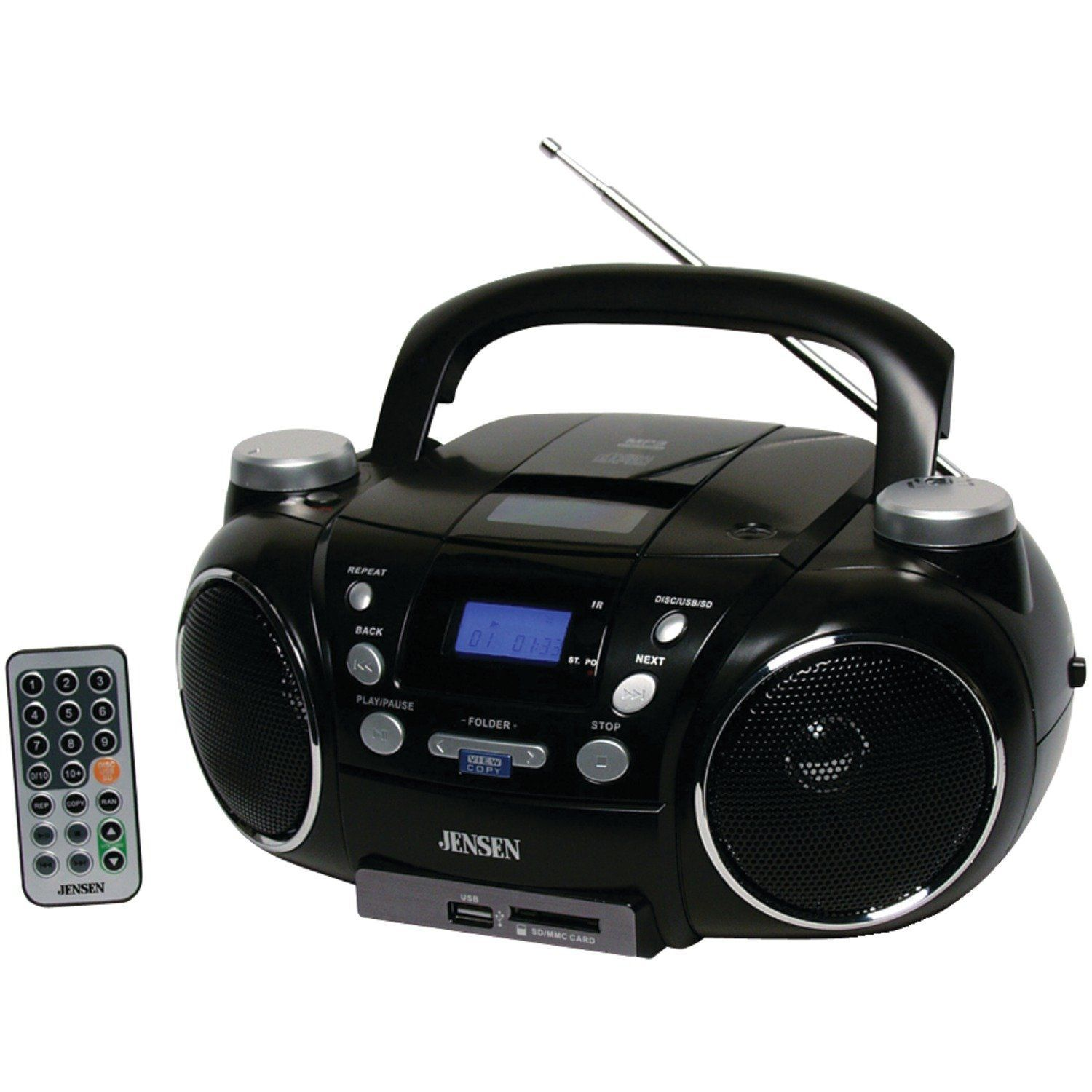 Jensen Portable Am And Fm Stereo Cd Player With Mp3 Encoder And Player