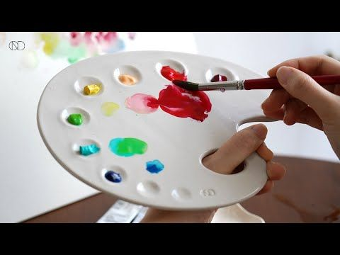 도자기 팔레트 만들기 🎨 : How make a Ceramic Paint Palette [ONDO STUDIO] - YouTube