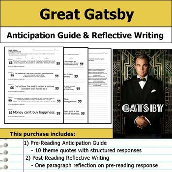 Reflective statement the great gatsby essay