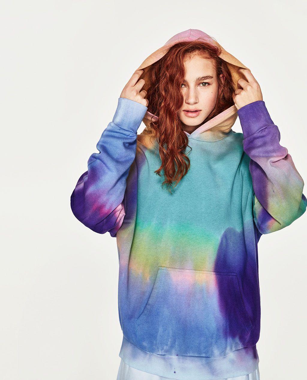 Tie Dye Sweatshirt New In Trf Zara United States [ 1269 x 1024 Pixel ]