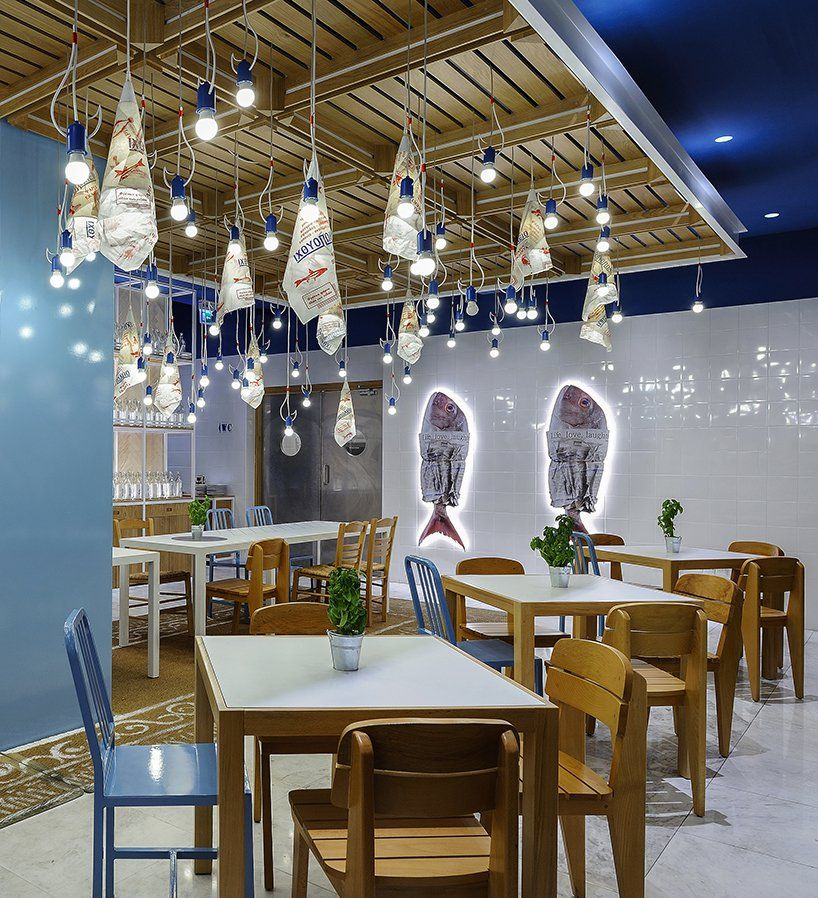 Minas Kosmidis Fish Market Restaurant Opens In Limassol Cyprus Restaurant Decor Restaurant Design Restaurant Interior