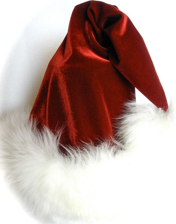 5e0e64f5b53 Luxury Santa Hat in Red Velvet