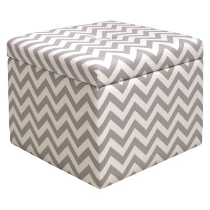 Astounding Gray Chevron Storage Ottoman Cute And Practical Perfect Caraccident5 Cool Chair Designs And Ideas Caraccident5Info