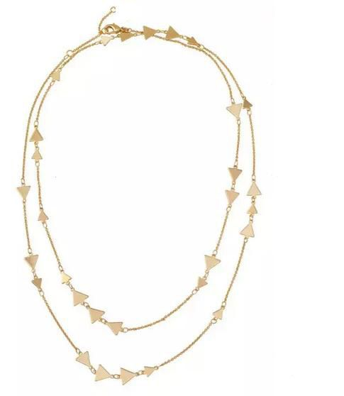 Stella Brand Designs Shiny Gold Triangles Alexia Necklace N2665
