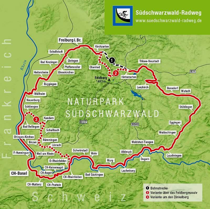 Südschwarzwald Karte.Radwege Schwarzwald Karte Hanzeontwerpfabriek