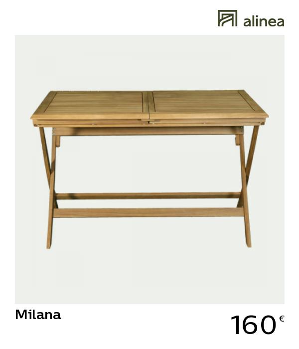 alinea #decoration milana table de jardin extensible pliante en ...