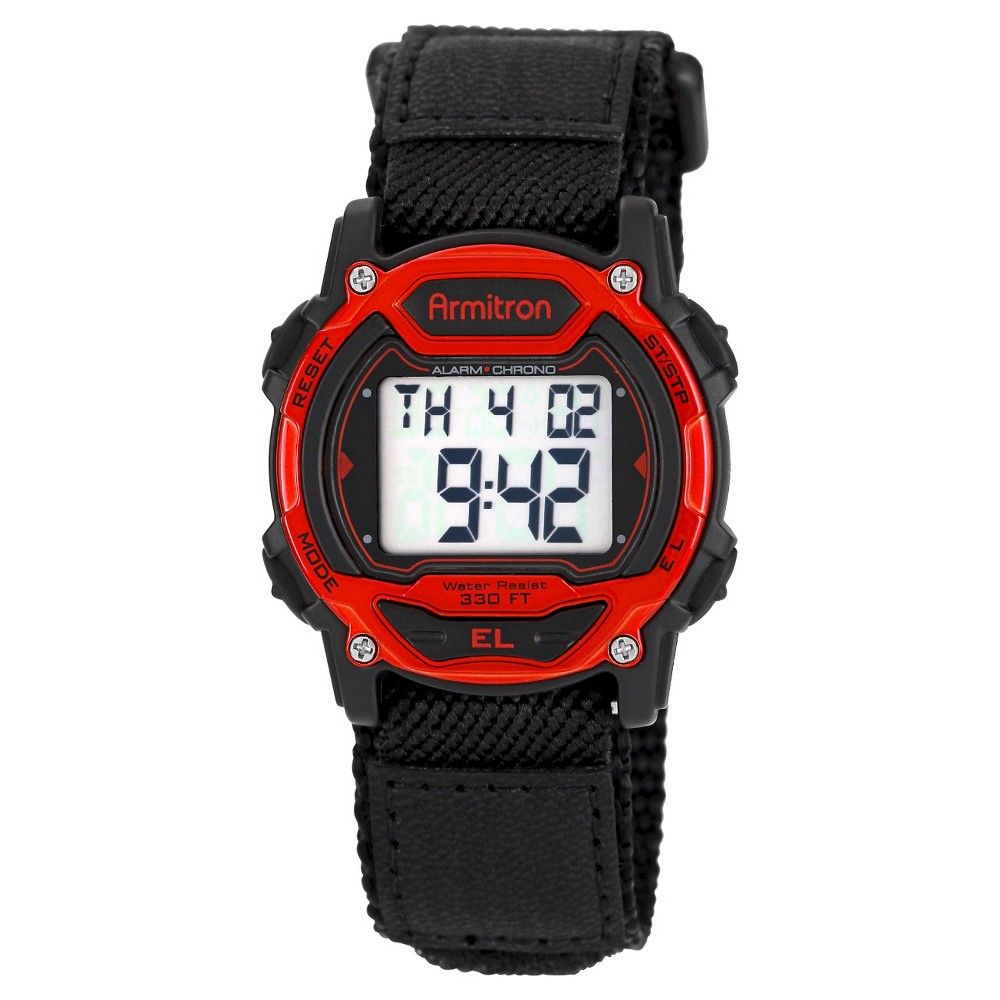 Men S Armitron 174 Sport Accented Digital Chronograph Watch Black Sports Watches Women Sport Watches Digital Sports Watches
