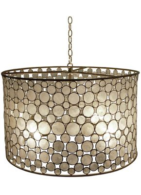 To Do With My Drum Shade Capiz Shell Chandelierdrum