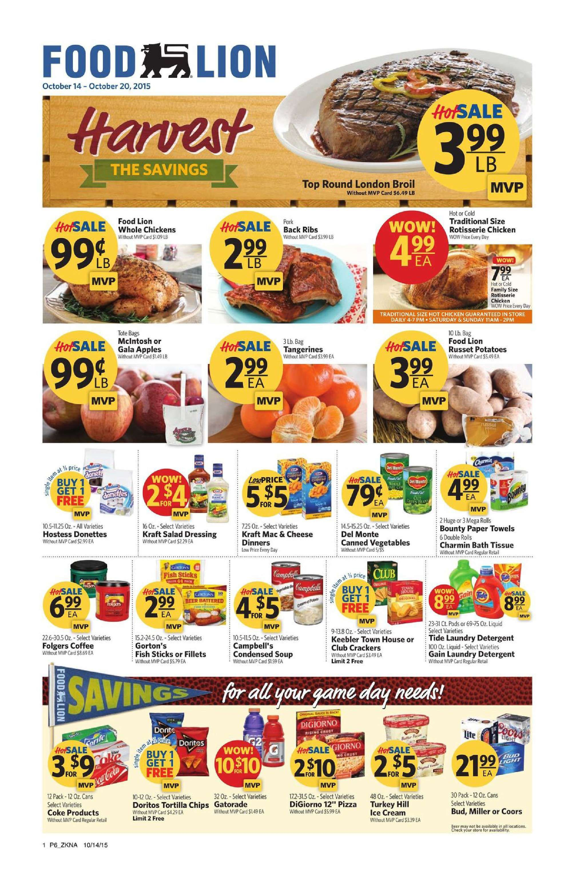 Food Lion Weekly Specials Food