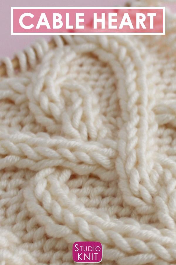 Celtic Cable Heart Stitch Knitting Pattern