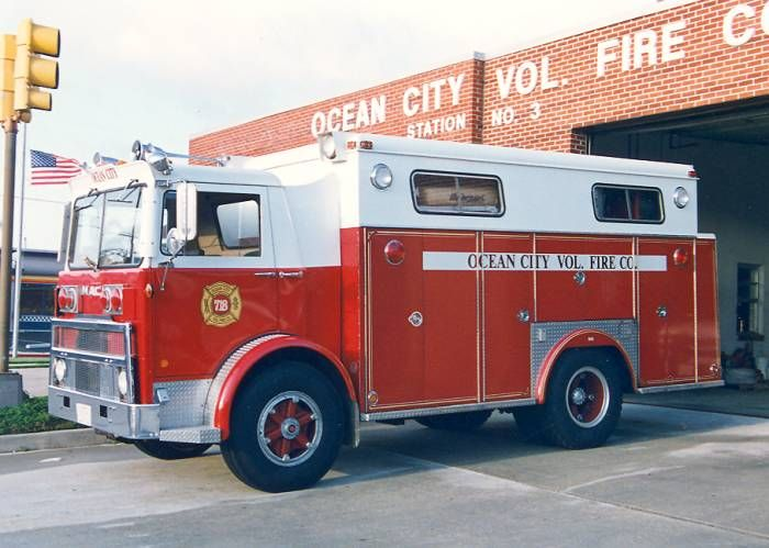 Ocean City Md Fd Old Rescue 718 Mack Swab Heavy Rescue Squad