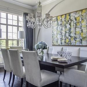 grayvelvetdiningchair Design decor photos pictures ideas
