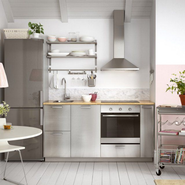 Comment choisir ma kitchenette petite cuisine ikea - Meuble cuisine inox ikea ...