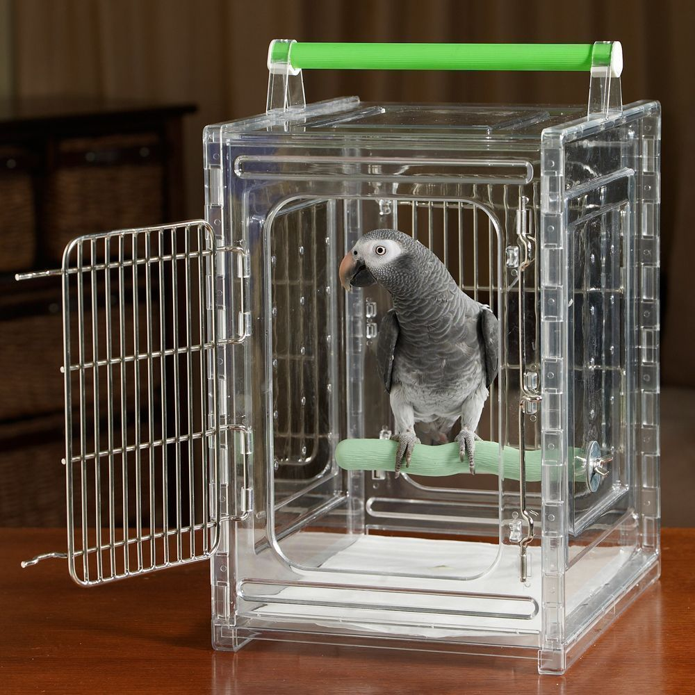 ACRYLIC PARROT TRAVEL CARRIER CAGE bird cages toy toys