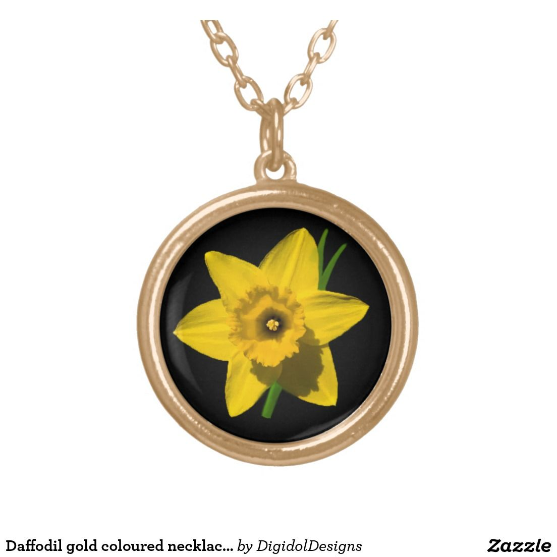 Daffodil gold coloured necklace St.David's Day