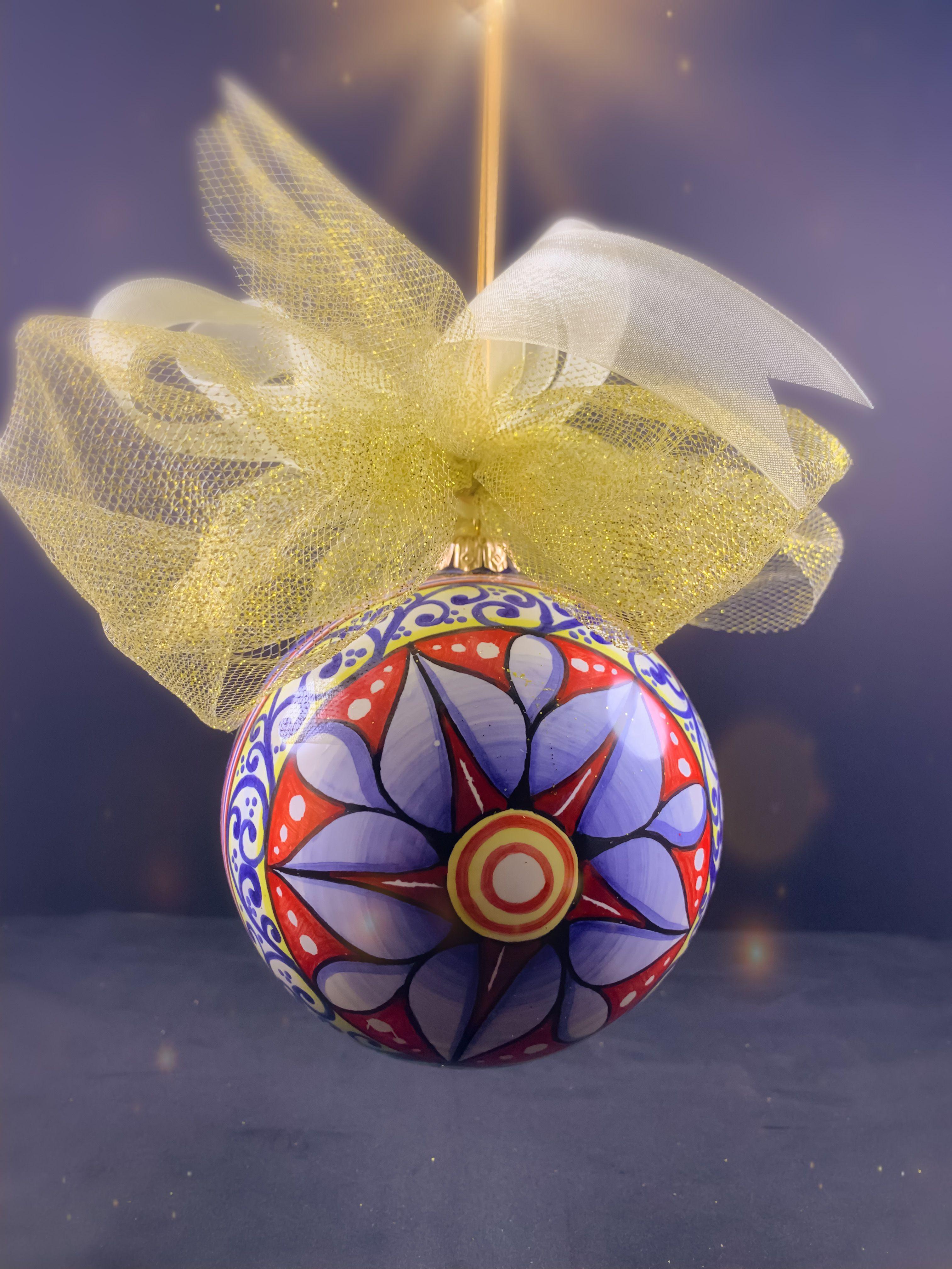Pallina di Natale in ceramica dipinta a mano Palline di