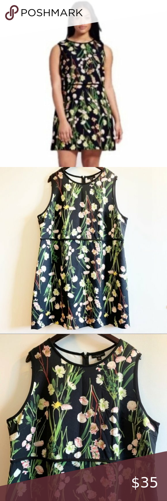 Victoria Beckham For Target Black Floral Dress 2x Size 2x Measurements Approx Bust 26 Waist 23 L Floral Dress Black Victoria Beckham Target Dresses 2x [ 1740 x 580 Pixel ]
