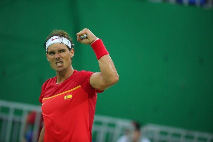 Rafa Nadal a disposé de Andreas Seppi aujourd'hui à Rio, 6-3, 6-3. Il jouera contre Gilles Simon au prochain tour. Vamos Rafa !!!! 🎾🇪🇸💪👊✨🔥