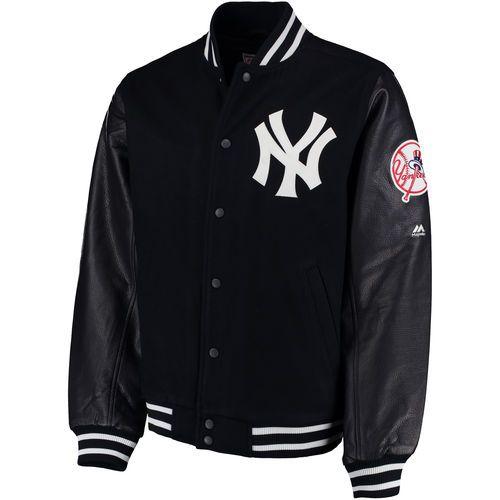 Men S New York Yankees Majestic Navy On Field Varsity Jacket Mens Street Style Varsity Jacket Men Varsity Jacket Outfit