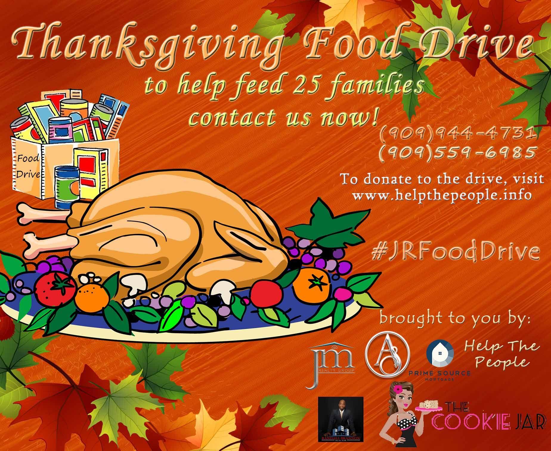 Thanksgiving Food Drive JRFoodDrive Foodgiveaway Thanksgivingfooddrive Freefood Ranchocucamonga